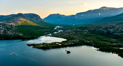 aerial photo, aerial photo, aerial photos, autumn, drone aerial, fishing camp, fjällbilder, Gattsatjv, Gärrajvve, jaktcamp, landscapes, Lapland, Makak, Miekak, Pite river, summer, swedish mountains