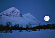 ambience, atmosphere, blue, blue, cold, full moon, landscapes, Lapland, moon, moonlight, mountain, mountains, national park, nature, niak, night, Sarek, skimming, winter