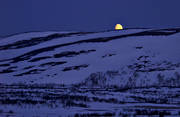 Anaris Mountains, deserted, evening, Jamtland, landscapes, moon, moonlight, moonset, mountain, night, spring, uninhabited, wasteland