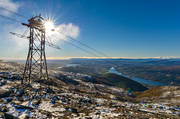 Are valley, autumn, cableway, fresh snow, Jamtland, landscapes, mountain, nature, stolpe, stötta, view