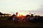 ambience, ambience pictures, atmosphere, camping, motorcycle, oland, season, seasons, summer, sunrise, sunset, tent, vacation