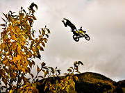 autumn, jump, motor sports, motorcycle, seasons, äventyr