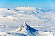 aerial photos, aerial picture, aerial pictures, Akka, Akka massif, flygbilder, holy, landscapes, Lapland, mountain, mountain pictures, mountain top, national park, sami culture, Sjöfallets, Slugga, winter