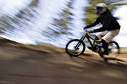 bicyclist, bike, bike, biking, fast, mountainbike, speed, summer, äventyr
