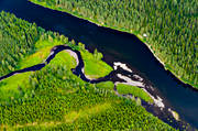aerial photos, aerial picture, aerial pictures, angling, fishing spots, flygbilder, Jamtland, Langan, Nävran, summer, watercourse
