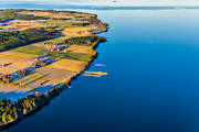 aerial photo, autumn, communications, drone aerial, ferry, färjeläge, Great Lake, island, islands, Jamtland, landscapes, Norderon, water