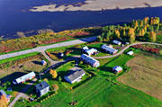 aerial photo, aerial pictures, autumn, drone aerial, farms, North Bothnia