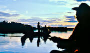 angling, backlight, boat fishing, evening fishing, fishing, Indal river, reel, reel fishing, silhouette, spin fishing, spinning