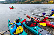 autumn, communications, kayak, lake, outdoor life, sport, tube, paddle, vatten, water, water sports, äventyr
