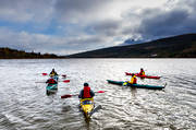 Are lake, autumn, communications, kayak, lake, outdoor life, tube, paddle, water, water sports, äventyr