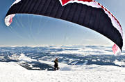 fallskärm, fly, mountain, nature, paragliding, screen, sport, various, winter, äventyr