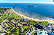 aerial photo, autumn, bathing, buildings, drone aerial, hotell, installations, konferenshotell, kurort, landscapes, North Bothnia, Pite havsbad, Pitea, Piteå havsbad, playa, samhällen, sandy, sea bathe