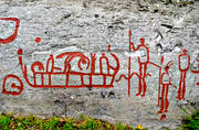 ancient monuments, antiquity, culture, flat rocks, Högsbyn, petroglyph, petroglyphs, rune stones, stone age