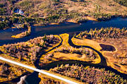 aerial photos, aerial picture, aerial pictures, angling, autumn, fishing spots, flygbilder, Jamtland, Langan, Petrus-Jonsa-Holmen, watercourse