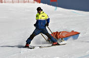 rescue personnel, rescue sledge, sled, sport, various, winter