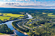 aerial photo, aerial pictures, drone aerial, North Bothnia, Pite river, samhällen, summer, Älvsbyn