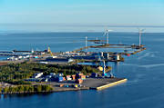 aerial photo, aerial pictures, drone aerial, Hillskär, Holmsund, installations, landscapes, port, samhällen, summer, West Bothnia