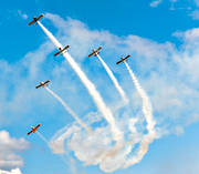 air show, aviation, communications, RV, RVators, show, smoke, Vans