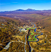 aerial photo, aerial pictures, autumn, drone aerial, Herjedalen, källflöde, landscapes, Ljusnan, Ramundberget, samhällen, ski resort, swedish mountains