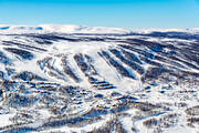 aerial photo, aerial pictures, drone aerial, Herjedalen, installations, Ramundberget, ski resort, ski resort, ski slopes, winter