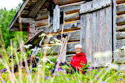 barn, break, building, nature, outdoor life, rest, summer, timbered, wanderer, footer, äventyr
