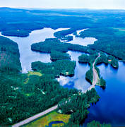 aerial photo, aerial pictures, countryside, Dalarna, drone aerial, landscapes, Malingen, road, road, summer
