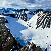aerial photo, alpine, drone aerial, fjällbilder, Kassatjåkkå, landscapes, Lapland, national parks, Sarek, summer, swedish mountains, Såltajiegna, Såltatjåkkå