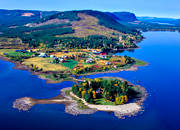 aerial photos, aerial picture, aerial pictures, autumn, autumn colours, countryside, cutting area, farms, flygbilder, Gautstr�sket, landscapes, Lapland, S�gholmen, �rn�sudden