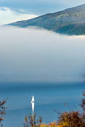 cloud, communications, fog, lake, nature, sailing, sailing-boat, summer, water sports, äventyr