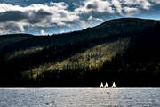 boat, communications, Jamtland, lake, landscapes, mountain, nature, sail, sailing, sailing-boat, sport, summer, vatten, water sports, äventyr
