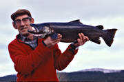 anglers, angling, fish, fishing, fishing spots, Jamtland, Langan, reel fishing, salmon trout, spin fishing, trout