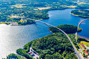 aerial photo, aerial photo, aerial photos, aerial photos, Angermanland, bridge, bridges, communications, drone aerial, drönarfoto, engineering projects, land, landscapes, Sandöbron, summer