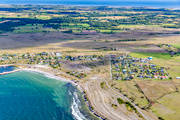 aerial photo, aerial pictures, bath, beach, drone aerial, oland, samhällen, Sandvik, sandy, summer