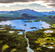 aerial photo, aerial pictures, Borkafjallet, drone aerial, fjällbilder, landscapes, Lapland, mountain, Saxen lake, summer, swedish mountains, vildmarkssjö, wasteland, wilderness