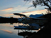 autumn, aviation, communications, evening, fly, Kamajakka, Kvikkjokk, national park, national parks, Sarek, seaplane, seaplane