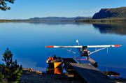 Arrenjarka, autumn, aviation, communications, fly, Lapland, mountain village, Saggat, seaplane, seaplane, Super Cub