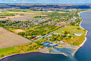 aerial photo, aerial pictures, drone aerial, fishing port, gästhamn, landscapes, port, Skåne, Skånes sydkust, small-boat harbour, Smygehamn, summer