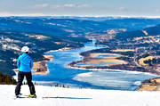 Are lake, Are valley, down-hill running, landscapes, mountain, nature, skier, sport, spring, view, winter, äventyr