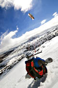 screen, snow kite, snow-board, sport, various, winter
