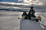 communications, Jamtland, land communication, landfatr, landscapes, motor sports, snowmobile, snowmobile, view, winter, äventyr