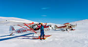 aviation, bask in sun, communications, Door lake, flight, fly, mountain flight, Piper Cub, solar, soldyrkan, spring-winter, sun, touched down, winter flight, winter flying
