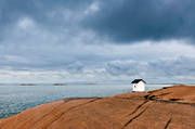 alone, Bohuslän, cabins, coast, desolated, horizon, house, landscapes, lighthouse, nature, rocks, sea, seasons, sky, Stångehuvud, summer, uninhabited