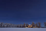 atmosphere, cabins, cottage, hur, Jamtland, landscapes, night sky, seasons, winter, winter ambience, winter sky