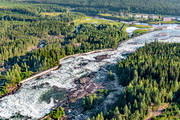 aerial photos, aerial picture, aerial pictures, attractions, fall, flygbilder, hotell, installations, landscapes, North Bothnia, Pite river, rapids, Storforsen, stream, turistattraktion, Varjisån, water fall