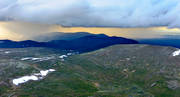 aerial photo, aerial pictures, drone aerial, Jamtland, landscapes, mountain, mountain pictures, nature, Oviksfjallen, rain showers, sky, storm clouds, summer