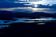 aerial photo, aerial pictures, ambience pictures, Anaris, Anaris Mountains, drone aerial, dusk, evening, Jamtland, lake, lakes, landscapes, mountain lake, mountain lakes, Storslitingarna, summer
