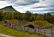 buildings, cabin, engineering projects, Herjedalen, hill farms, mountain farms, Hjortvallen, Hågnvallen, life by hill farms, Mittaklappen, mountain, nature, Stormittåkläppen, summer cottage, summer cottage
