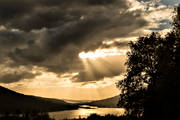 Are lake, Are valley, autumn, cloud, forests, Jamtland, lakes, landscapes, seasons, sunrays, sunset, view
