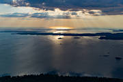 aerial photo, aerial pictures, drone aerial, evening, Hjorthammaren, lake, landscapes, solblänk, summer, sunset, Torsö, Vänern, Västergötland