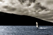 Are lake, autumn, lake, sail, surfa, surfare, utmaning, water sports, windsurfa, äventyr